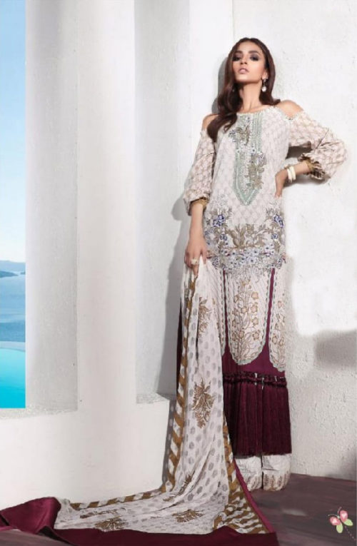 Deepsy Muzlin Premium Pure Cotton Gold Print With Heavy Embroidery suit 025