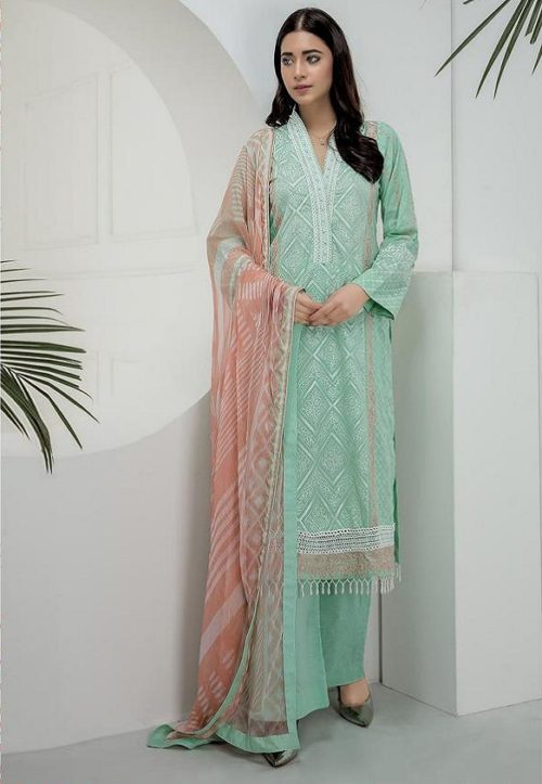 Deepsy Presents Chikankari Pure Cotton With Heavy Embroidery Salwar Suit 074
