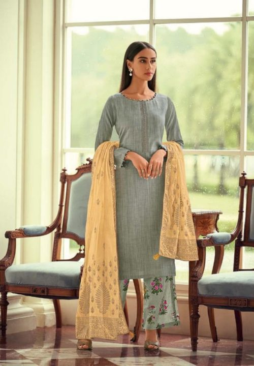Deepsy Presents FairyTale Pure Jam Silk cotton Printed And Embroidered Suit 43003