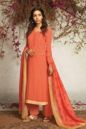 Ganga Presents The Summer Of Love pure silk Solid With Embroidery Salwar Suit 7533