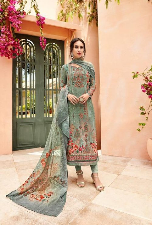 Glossy Presents Irina Safina Georgette Digital Print With Sarvoski Work Suits 074