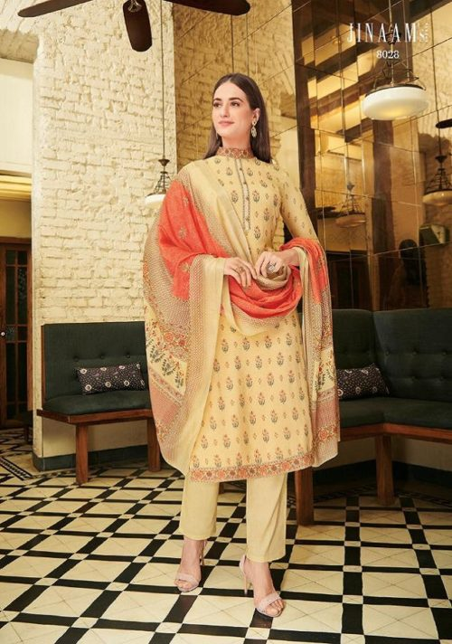 Jinaam Presents Grace Digital Printed Cotton Silk Salwar Suit 8028