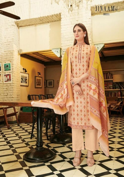 Jinaam Presents Grace Digital Printed Cotton Silk Salwar Suits 8031