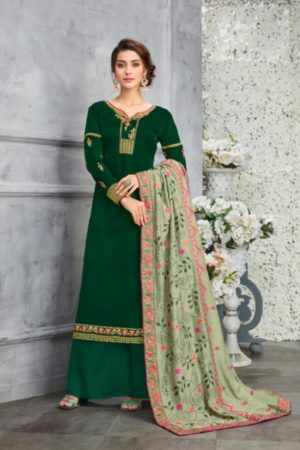 Karma Presents Heavy Dupatta Satin Georgette Embroidered Salwar Suit 14402
