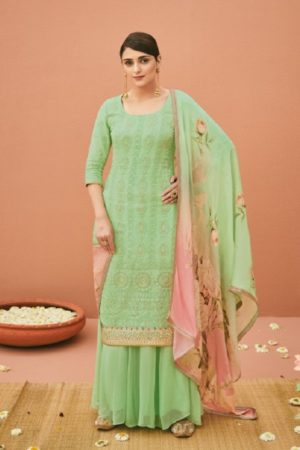 Kimora Heer Vol 45 Pure Bemberg Georgette With Heavy Embroidery Suit 9075
