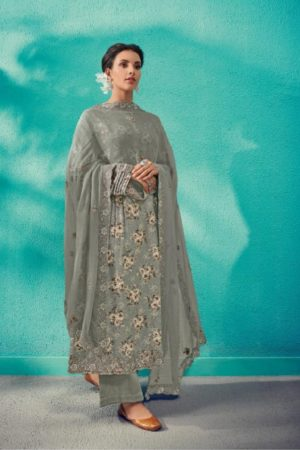 Kimora Presents Heer vol 50 Pure Cotton Satin Digital Print With Embroidery Salwar Suit 9307