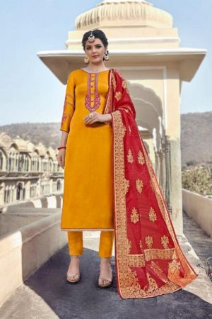 Maisha Presents Maskeen Harleen Satin Georgette With Work Party Wear Suit 7802