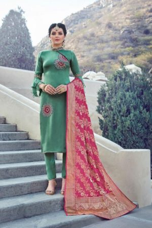 Maisha Presents Maskeen Harleen Satin Georgette With Work Party Wear Suit 7806