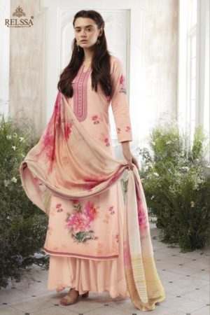 Relssa Presents Rithu Cotton Digital Print With Exclusive Embroidery Suit 10101