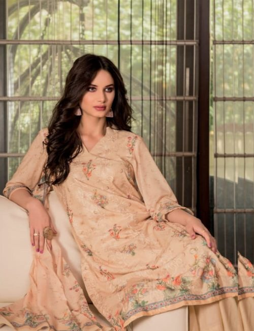Rivaa Presents Sadia 2 Pure Voile digital print with embroidery salwar suit 1635