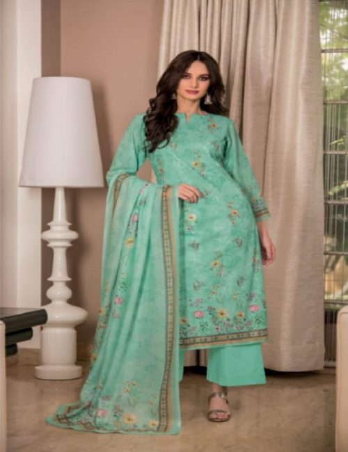 Rivaa Presents Sadia 2 Pure Voile digital print with embroidery salwar suits 1632