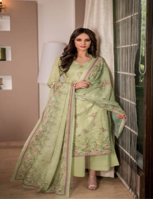 Rivaa Presents Sadia 2 Pure Voile digital print with embroidery salwar suits 1634