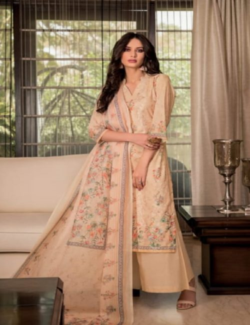 Rivaa Presents Sadia 2 Pure Voile digital print with embroidery salwar suits 1635
