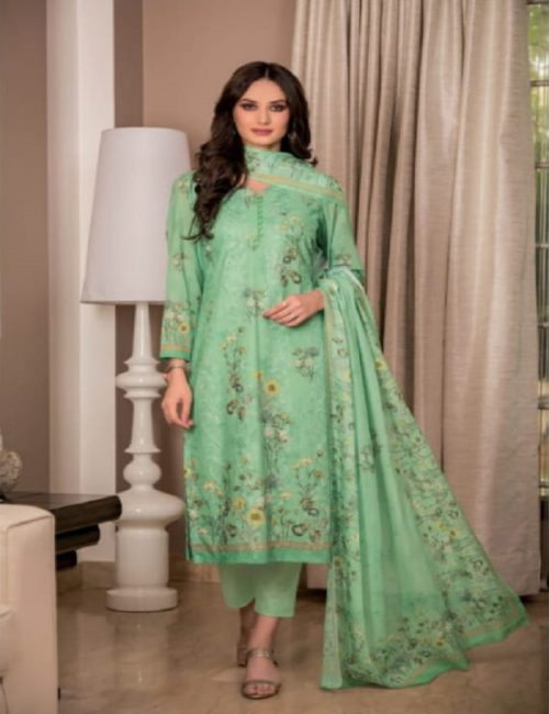 Rivaa Presents Sadia 2 Pure Voile digital print with embroidery salwar suits 1636