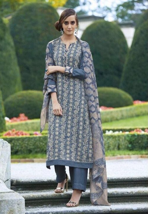 Sahiba Presents Dhara Cotton Satin With Heavy Embroidery Work Suit 03