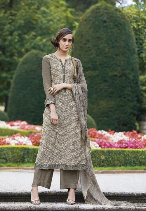 Sahiba Presents Dhara Cotton Satin With Heavy Embroidery Work Suit 07