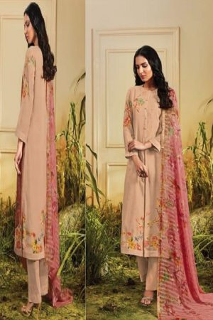 Sahiba Sarg Presents Tropical Blush Summer Kote Digital Printed With Handwork Suits TR-610