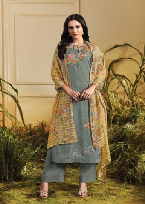 Sahiba Sarg Presents Tropical Blush Summer Kote Digital Printed With Handwork Suits TR-621
