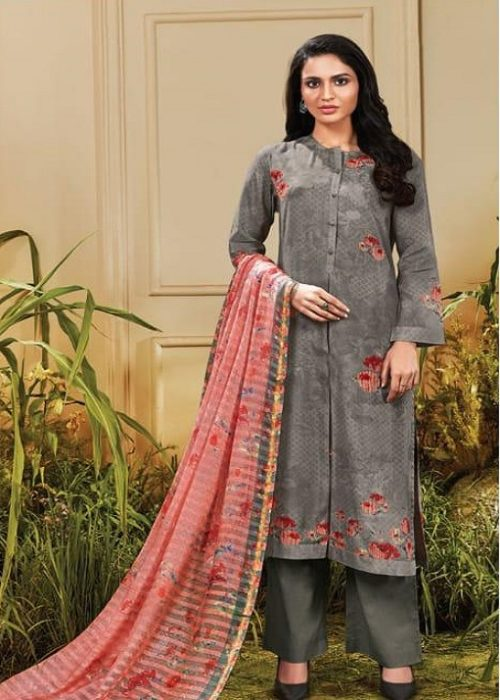 Sahiba Sarg Presents Tropical Blush Summer Kote Digital Printed With Handwork Suits TR-625