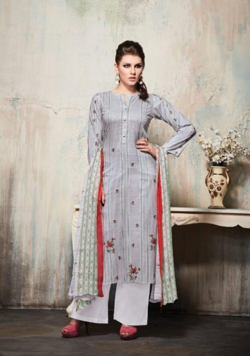 Sahiba Sudriti Presents Misha Cambric Print With Embroidery and Handwork Suit 565