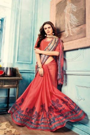 Sahiba T&M Presents Aadhaya Fabric Pure Silk Digital Print Designer Sarees 15