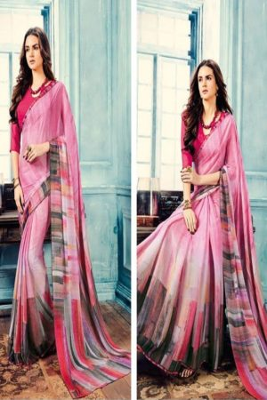 Sahiba T&M Presents Aadhaya Fabric Pure Silk Digital Print Designer Sarees 17
