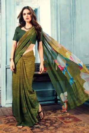 Sahiba T&M Presents Aadhaya Fabric Pure Silk Digital Print Designer Sarees 23