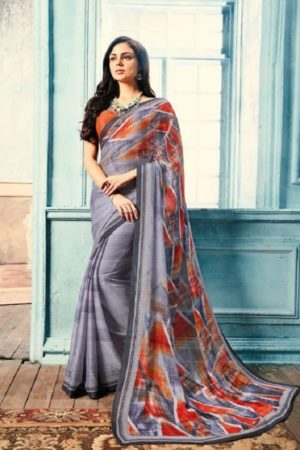 Sahiba T&M Presents Aadhaya Fabric Pure Silk Digital Print Designer Sarees 18