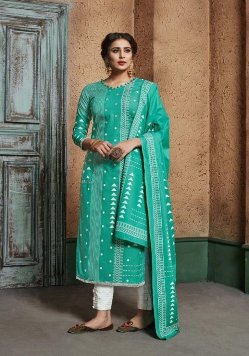 Sargam Presents Aarzu Vol 3 Pure Lawn Block Printed Salwar Suit 142-005