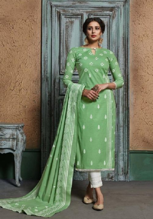 Sargam Presents Aarzu Vol 3 Pure Lawn Block Printed Salwar Suits 142-002