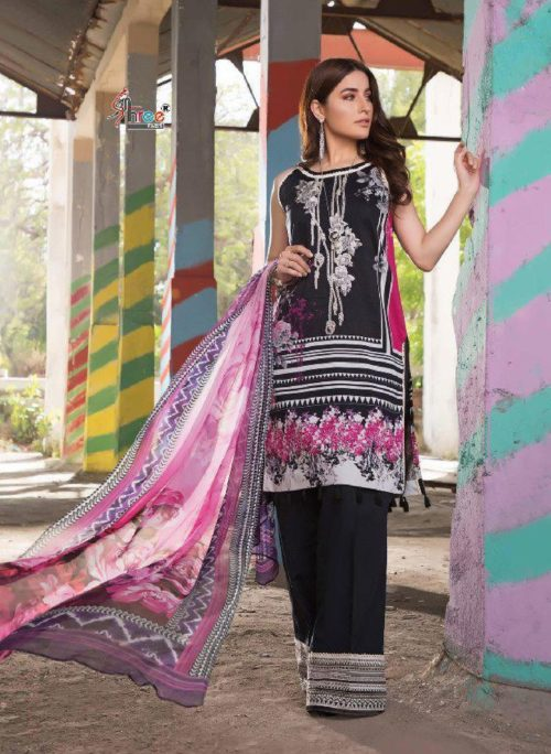 Shree Fabs Presents Firdous Exclusive Collection vol 2 Pure Cotton Print With Embroidery Suit 6164