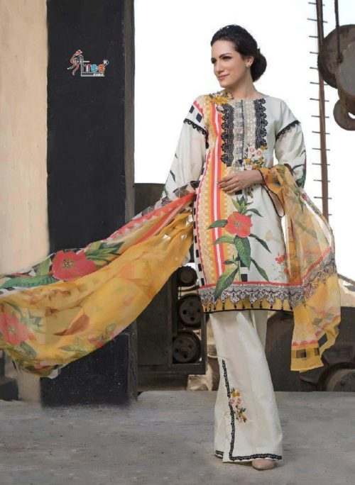 Shree Fabs Presents Firdous Exclusive Collection vol 2 Pure Cotton Print With Embroidery Suits 6167