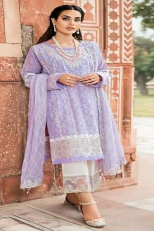 Shree fabs Qalamkar Lawn Collection Cambric Cotton With Self Embroidery Suit 8025