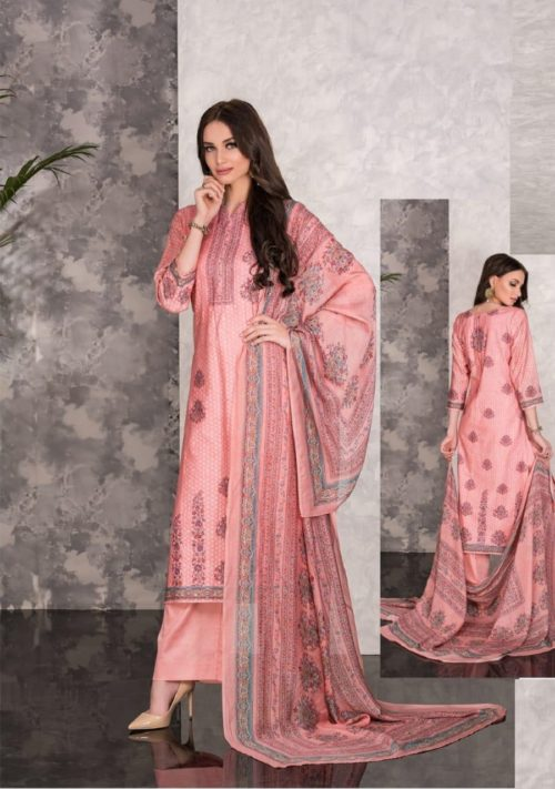Tacfab Naariti Madhosh Glace Cotton Jacquard Digital Print With Handwork Salwar Suits TR 157