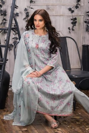 Tacfab Presents Naariti Addah Pure Cotton Print Unstitched Salwar Suit 2261 A