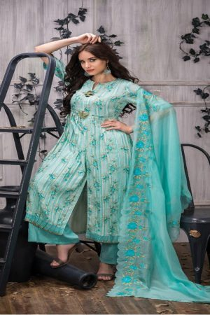 Tacfab Presents Naariti Addah Pure Cotton Print Unstitched Salwar Suit 2261 B