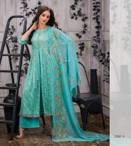 Tacfab Presents Naariti Addah Pure Cotton Print Unstitched Salwar Suit 2262 A