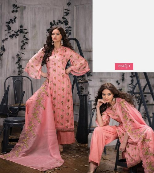Tacfab Presents Naariti Addah Pure Cotton Print Unstitched Salwar Suit 2263 A