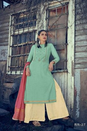 Varsha Fashion Presents Rangrez 2 Muslin Solid With Embroidery Salwar Suits RR-27