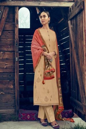 Varsha Fashions Presents Tree Of Life Tussar Silk With Detailed Cording Embroidery Suits TL-101