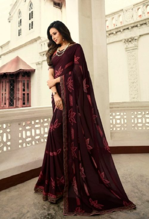 Vinay Fashion Presents Sheesha Starwalk 46 Silk Georgette Designer Saree 21482