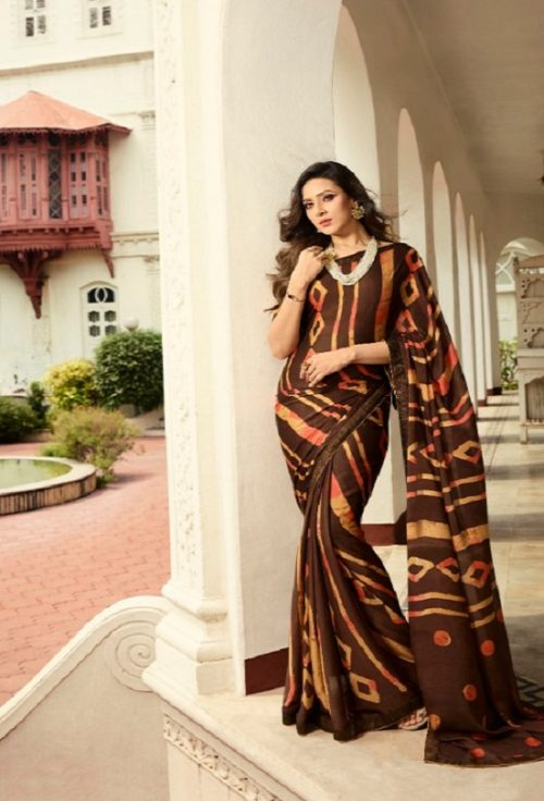 Vinay Fashion Presents Sheesha Starwalk 46 Silk Georgette Designer Sarees 21484