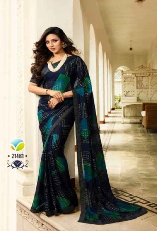 Vinay Fashion Presents Sheesha Starwalk 46 Silk Georgette Designer Sarees 21481