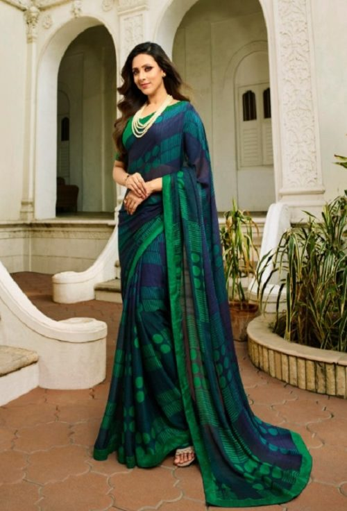 Vinay Fashion Presents Sheesha Starwalk 46 Silk Georgette Designer Sarees 21488