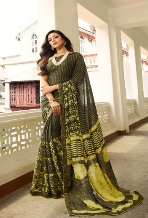Vinay Fashion Presents Sheesha Starwalk 46 Silk Georgette Designer Sarees 21489