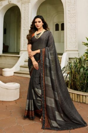 Vinay Fashion Presents Sheesha Starwalk 46 Silk Georgette Designer Saree 21490