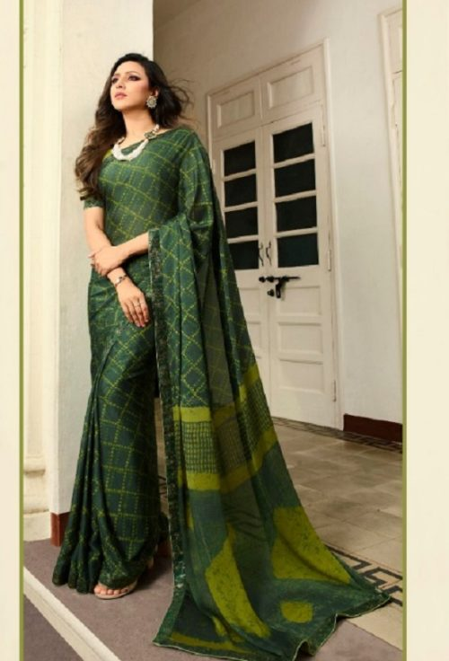 Vinay Fashion Presents Sheesha Starwalk 46 Silk Georgette Designer Saree 21491