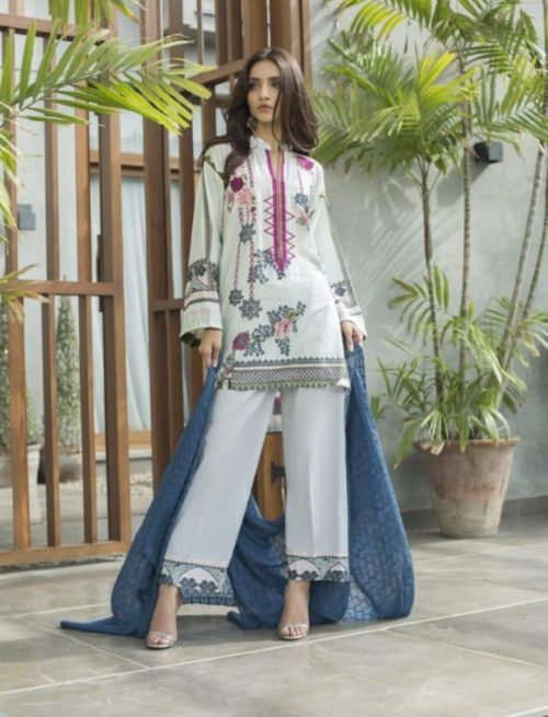 Z S Textile Malkah Festive Embroidered Lawn Collection Pure Lawn With Embroidery Suit ZS-08