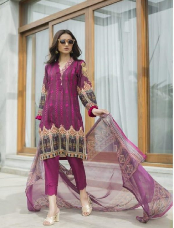 Z S Textile Malkah Festive Embroidered Lawn Collection Pure Lawn With Embroidery Suits ZS-06