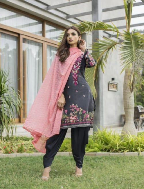 Z S Textile Malkah Festive Embroidered Lawn Collection Pure Lawn With Embroidery Suits ZS-13